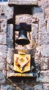 Bell and crest at Cawdor Castle